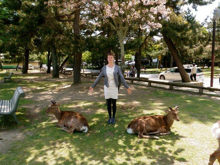 (Staci Bu Shea in Nara, Japan. 2010. Photo by David Bu Shea, Sr.)