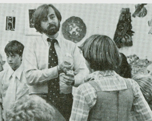 Jim Smith as an art teacher in the early eighties.