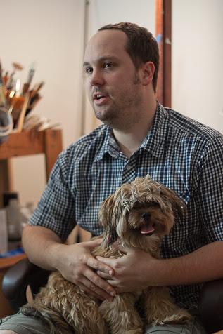 (Jason John and his dog, Vasari.)
