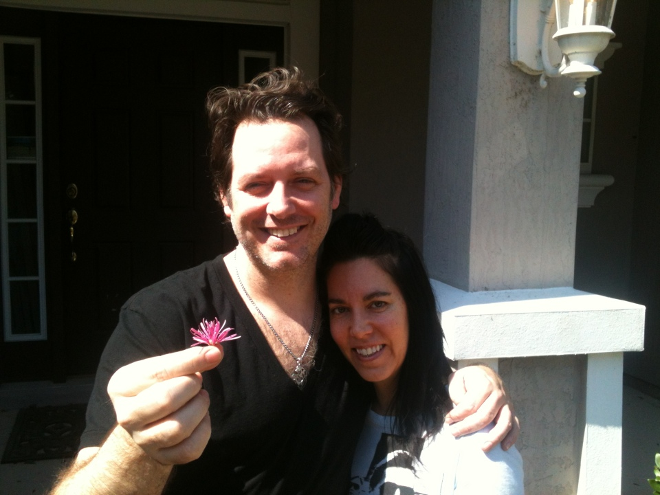 [Flower Children: Chip and Rikki Southworth at home, March 11, 2013.]
