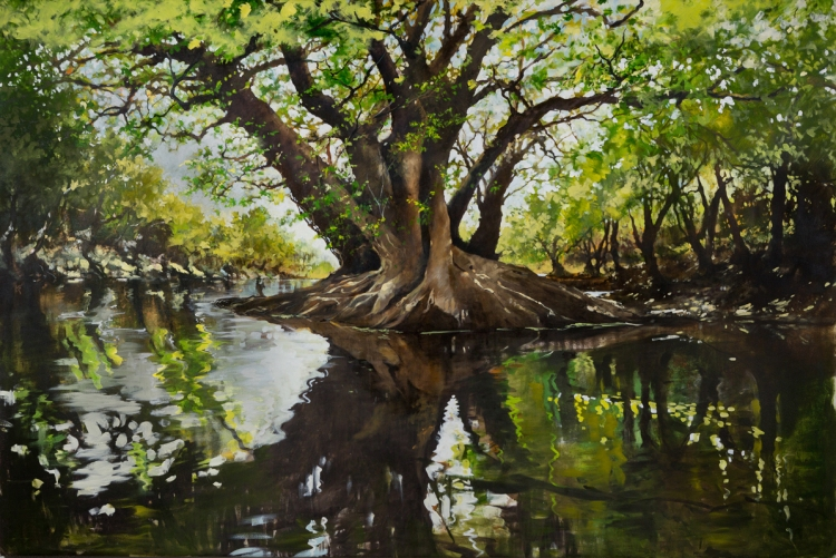 "[""Ogeechee Lime,"" oil on canvas, 72  x 109, photographed by Doug Eng.]"