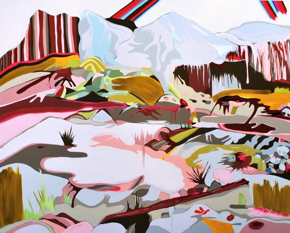 "[""Devil's Den,"" 48 x 60, acrylic and rhinestones on canvas.]"