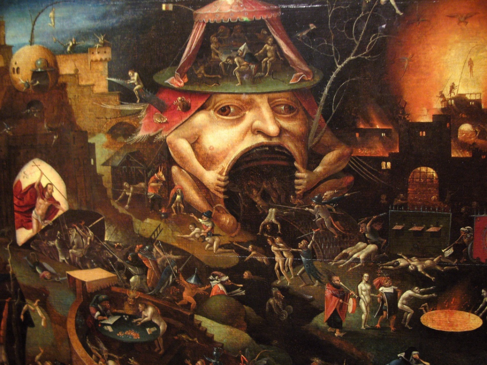 "Detail from ""The Last Judgment"" by Hieronymus Bosch, c. 1482; also witnessed by the author while under the influence of LSD on July 4, 1987."