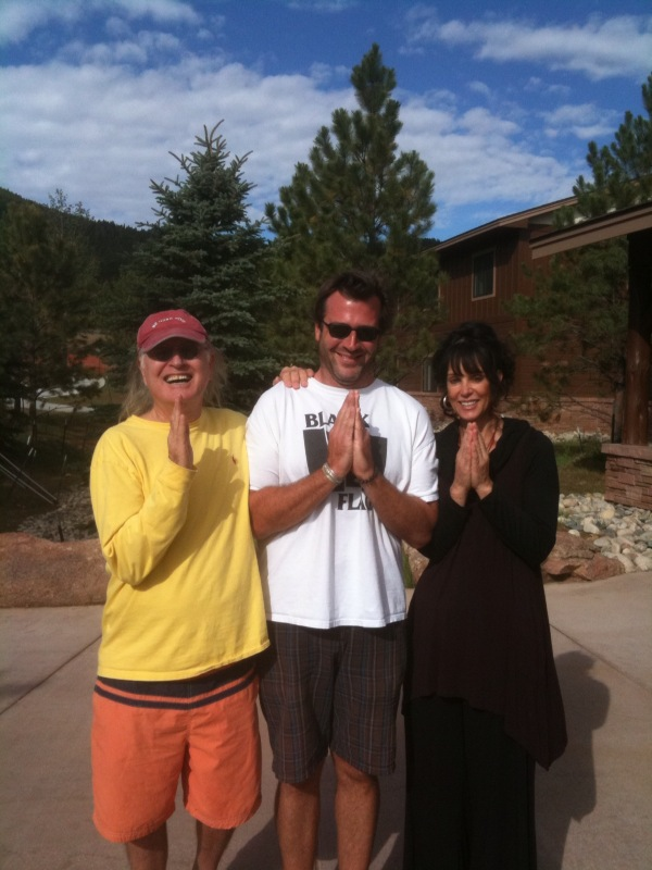 """Tom Catton, """"Dharma Opening of the Heart,"""" and Bea Austin. August 2009; meditation retreat in Estes Park, Colorado."""