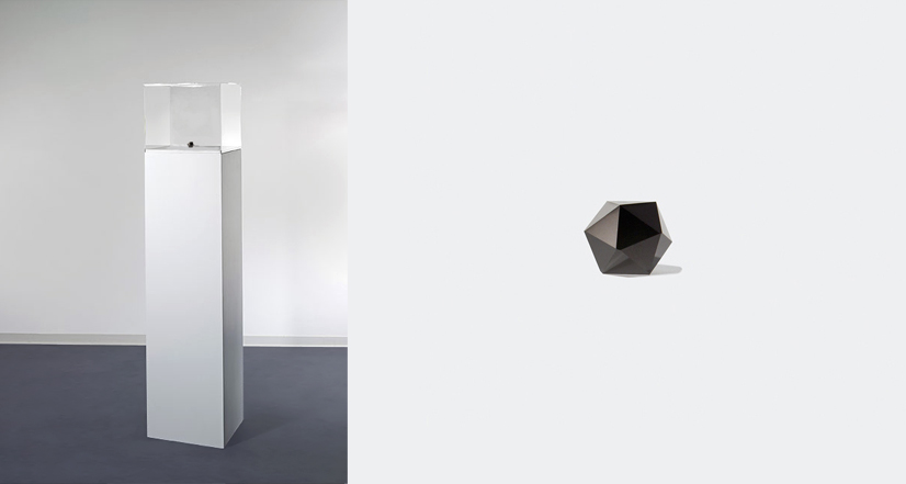 "[Liz Rodda's, ""Plan For Victory,"" black jade icosahedron, 16 millimeters."