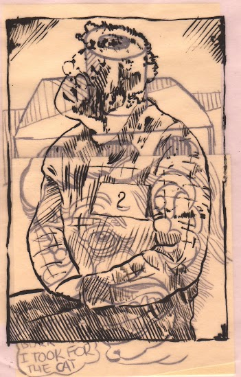 "(""ren,"" ink on Post-it Notes; year unknown.)"