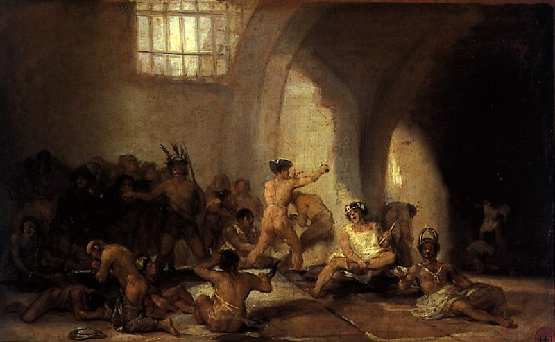 "Franciso de Goya's ""The Madhouse,"" (1812-1819); thankfully, during my brief time spent in the the teenage bughouse, I could still smoke cigarettes."