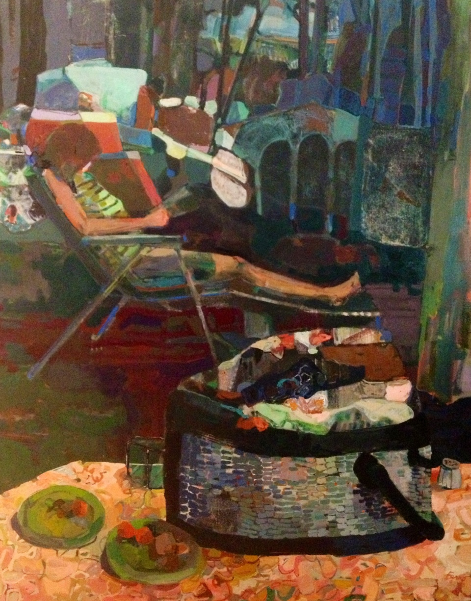 "[""The Stacked Wait,"" oil on canvas, 48 x 60; 2013.]"